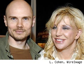 Billy Corgan and Courtney Love
