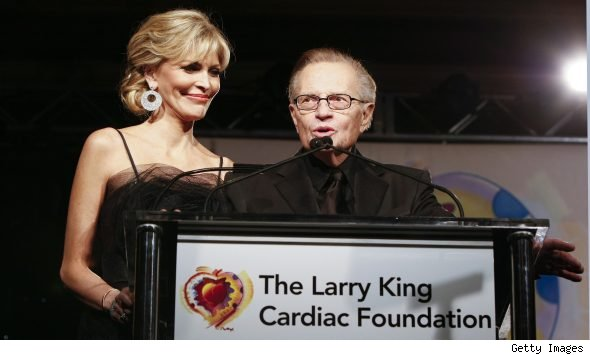 Larry King and Shawn Southwick-King in March 2010