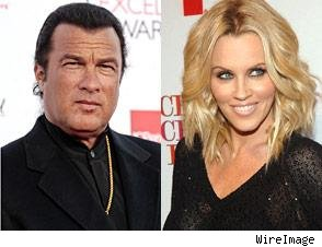 Steven Seagal and Jenny McCarthy