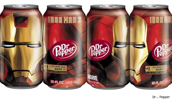 Iron Man 2 Dr. Pepper Cans