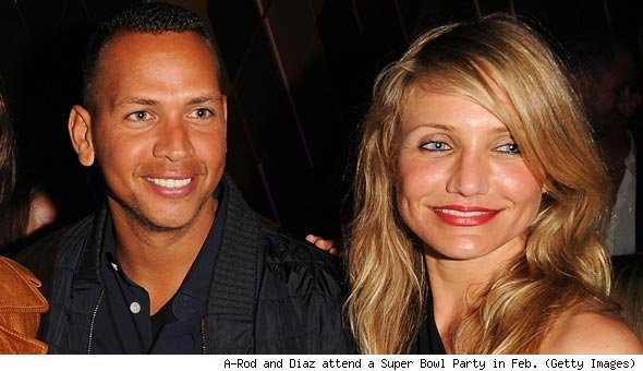 Alex Rodriquez and Cameron Diaz