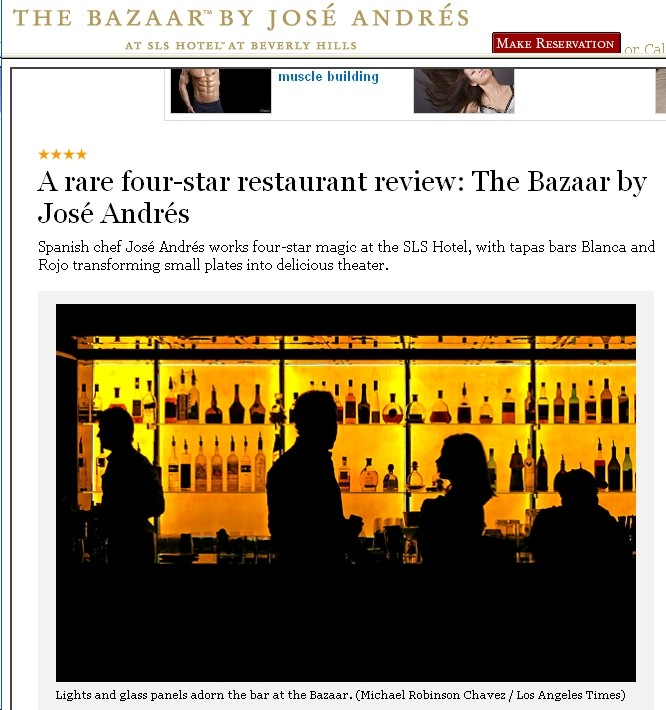 The Bazaar Los Angeles Times Review