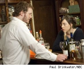 Chris Pratt and Aubrey Plaza on 'Parks and Recreation'