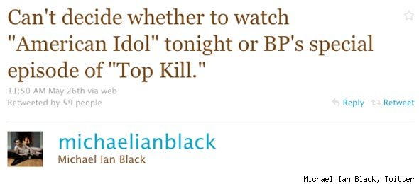 Michael Ian Black BP Oil Spill Tweet