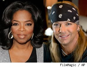 Bret Michaels and Oprah Winfrey