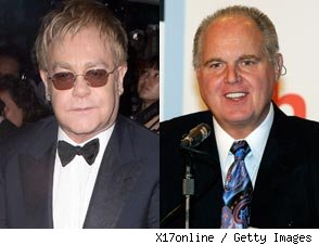 Elton John and Rush Limbaugh