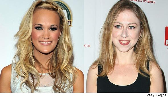 Carrie Underwood and Chelsea Clinton