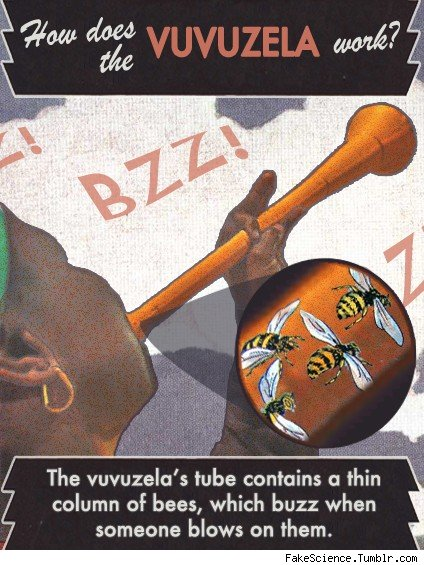 Vuvuzela Fake Science