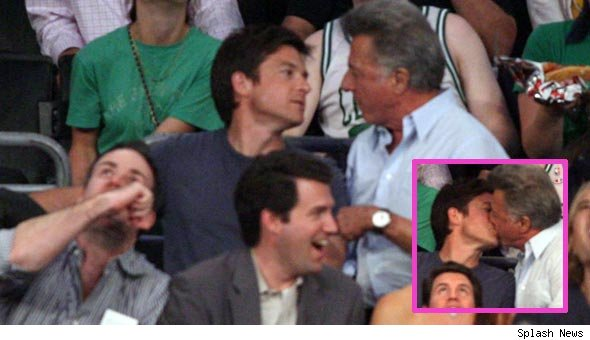Jason Bateman and Dustin Hoffman Kiss