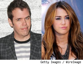 Perez Hilton and Miley Cyrus