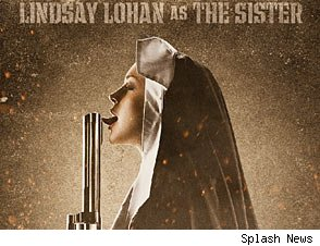 Lindsay Lohan's 'Machete' promo poster