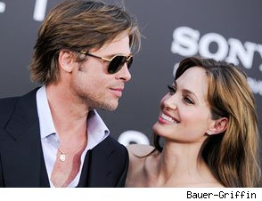 Brad Pitt and Angelina Jolie at the 'Salt' premiere