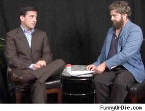 Steve Carell and Zach Galifianakis Have Verbal Brawl on FunnyOrDie