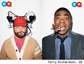 Zach Galifianakis and Tracy Morgan GQ Comedy Issue