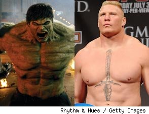 Lesnar Smash! Why the UFC Champ Should Play the Hulk