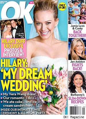 Hilary Duff Ok Magazine wedding cover