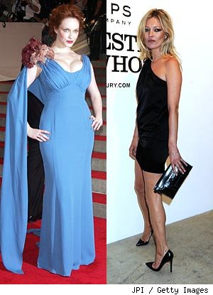 Christina Hendricks and Kate Moss