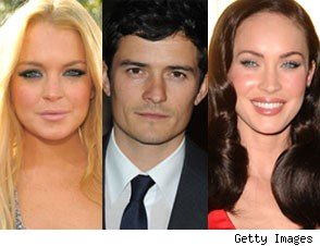 Lindsay Lohan, Orlando Bloom, Megan Fox
