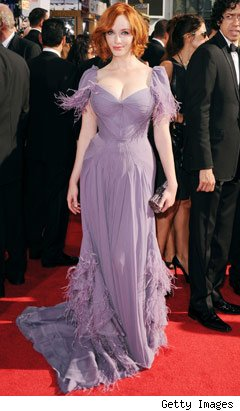 Christina Hendricks at the Emmys