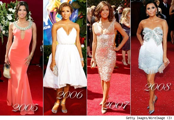 Eva Longoria Emmy Awards Dresses