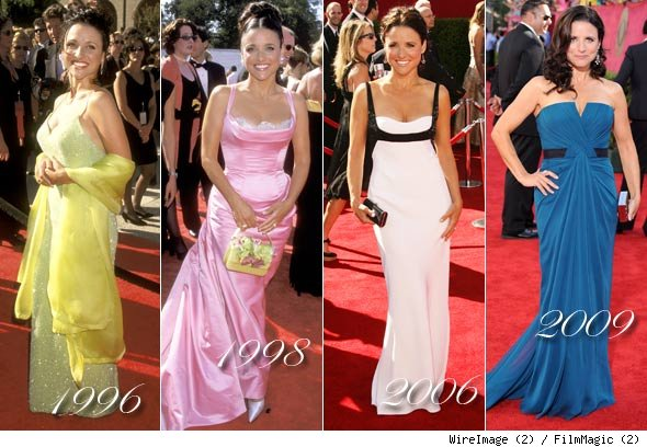 Julia Louis-Dreyfus Emmy Dresses