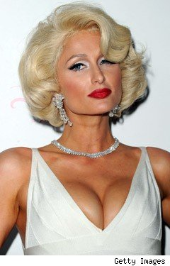 Paris Hilton as Marilyn Monroe