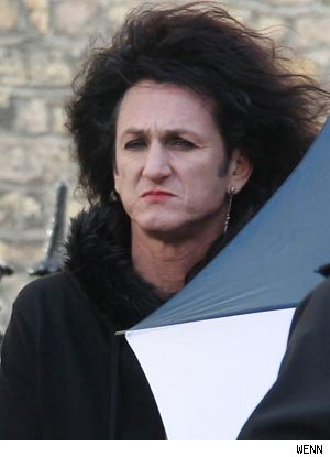 Sean Penn Sports Lipstick and Big, Teased Hair