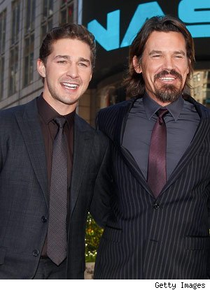Shia LeBeouf and Josh Brolin