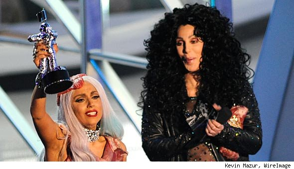 Lady Gaga and Cher at VMAs