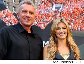 Joe Montana and Erin Andrews