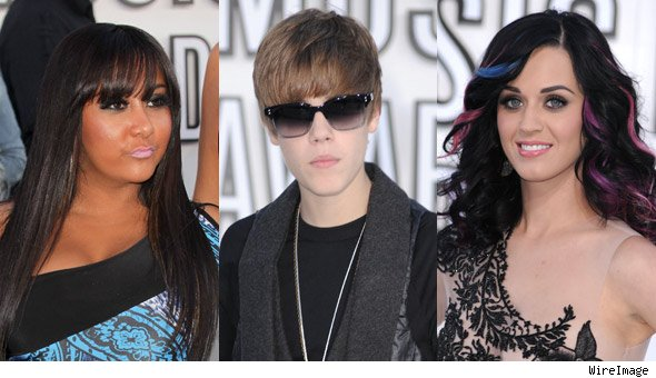 Snooki, Justin Bieber, Katy Perry MTV VMA Red Carpet Photos