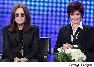 Ozzie Osbourne and Sharon Osbourne