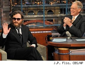 David Letterman and Joaquin Phoenix