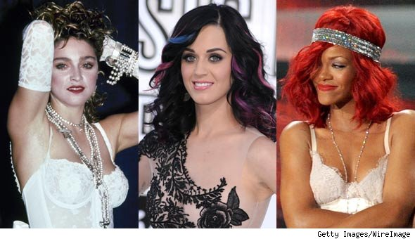 Madonna, Katy Perry and Rihanna