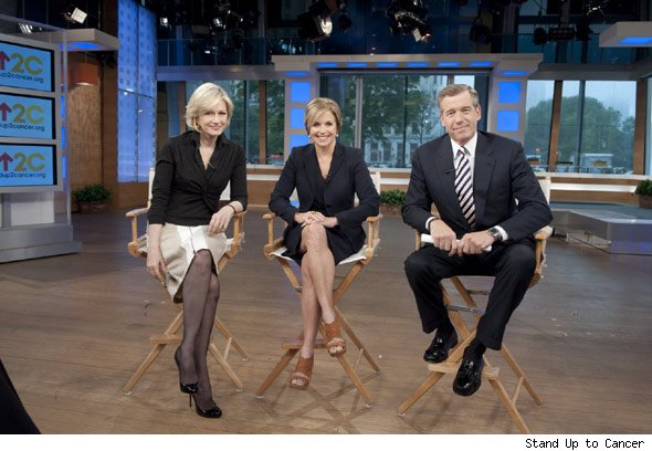 Diane Sawyer, Katie Couric and Brian Williams
