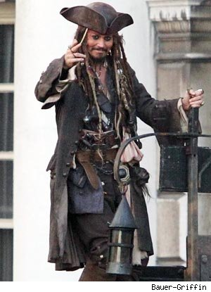 Johnny Depp Visits Schoolgirl as Captain Jack Sparrow