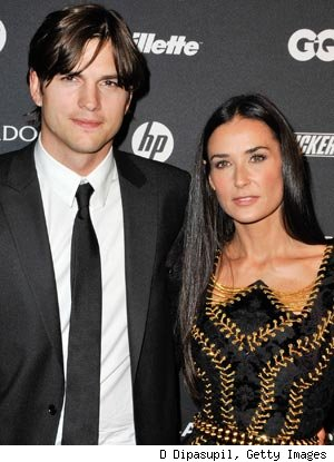 Ashton Kutcher, Demi Moore at the GQ Gentleman's Ball