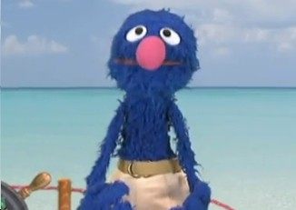 Grover as Old Spice Man on Sesame Street