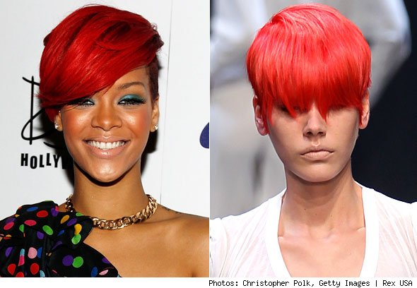 Rihanna Red Mohawk Hairstyles