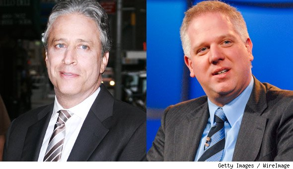 Jon Stewart and Glenn Beck