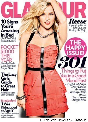 Reese Witherspoon in Glamour: 'Funny Doesn't Sag'