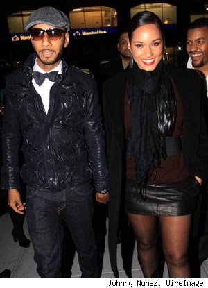 Swizz Beatz &amp; Alicia Keys at GQ Party in NYC