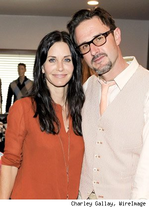 Courteney Cox and David Arquette on Saturday