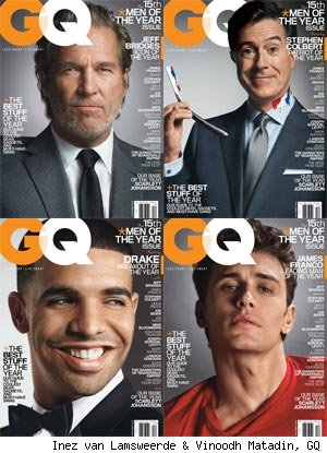 Meet GQ's Men of the Year: Colbert, Franco, Bridges and Drake