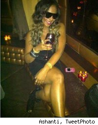 Ashanti at Ne-Yo's Champagne Life Tour party in NYC