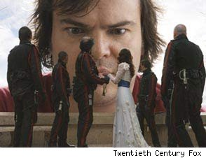 Jack Black in Gulliver's Travels Trailer