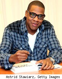 Jay-Z at a booking signing of Decoded