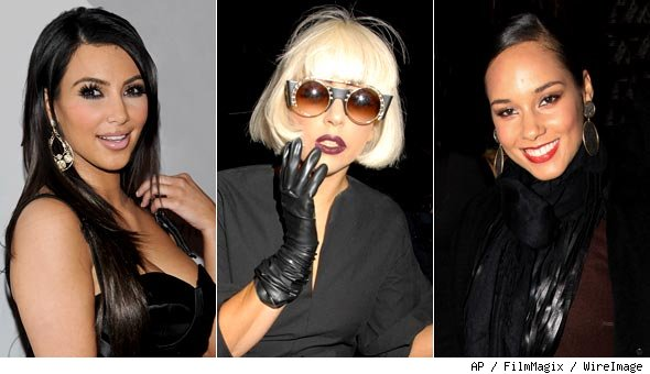 Kim Kardashian, Lady Gaga and Alicia Keys