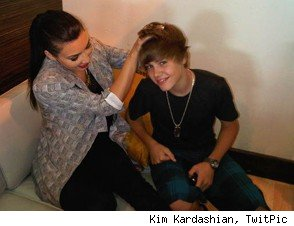 Kim Kardashian and Justin Bieber