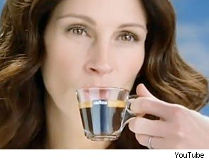 Julia Roberts in Lavazza Commercial